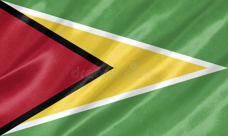 Guyana-Flagge lizenzfreie abbildung