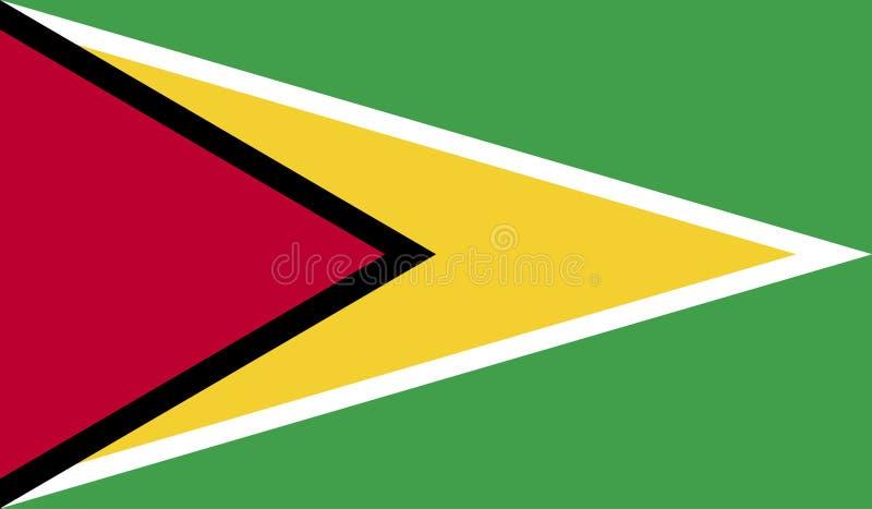 Guyana-Flaggenbild stock abbildung