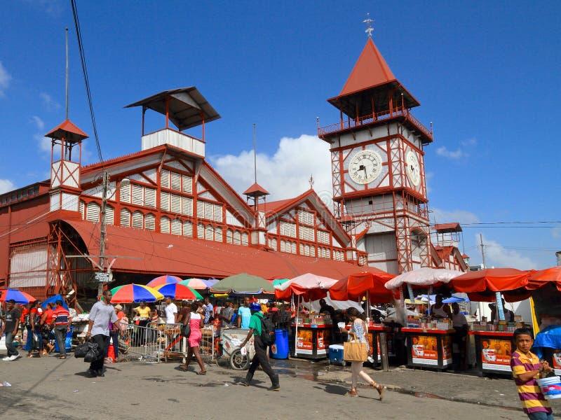 Guyana, Georgetown: Stabroek rynek obrazy stock