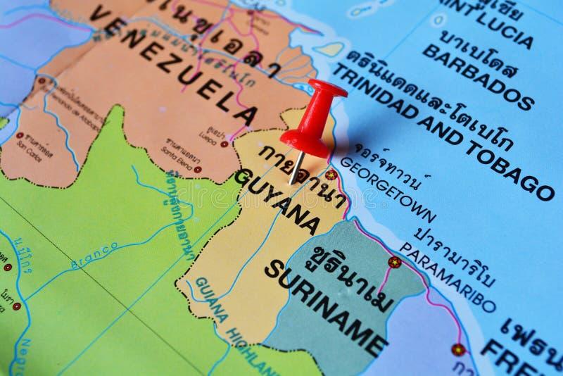 Guyana map stock photo Image of closeup mapping south 63089266