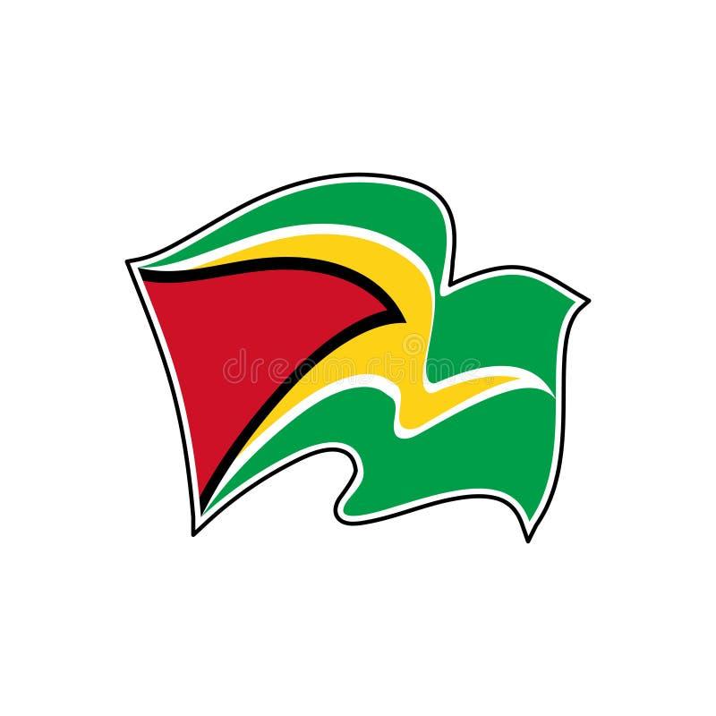 Guyana-Vektorflagge Nationales Sonderzeichen von Guyana lizenzfreie abbildung