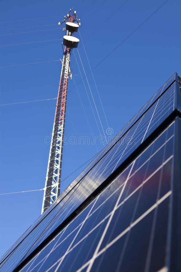 Guyed Cell Tower stock photography