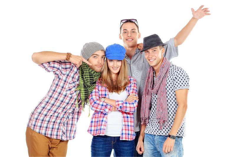 Guys together royalty free stock photography