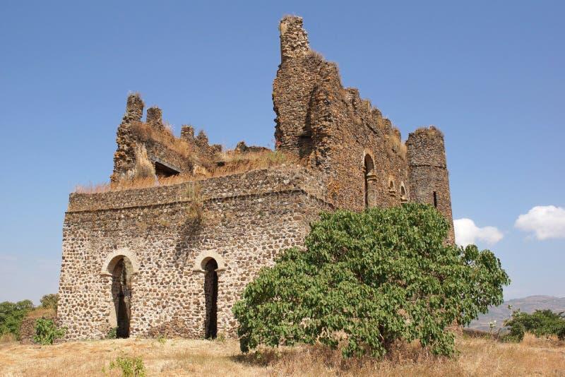 Guzara Gondar, Etiopien, Afrika royaltyfria foton