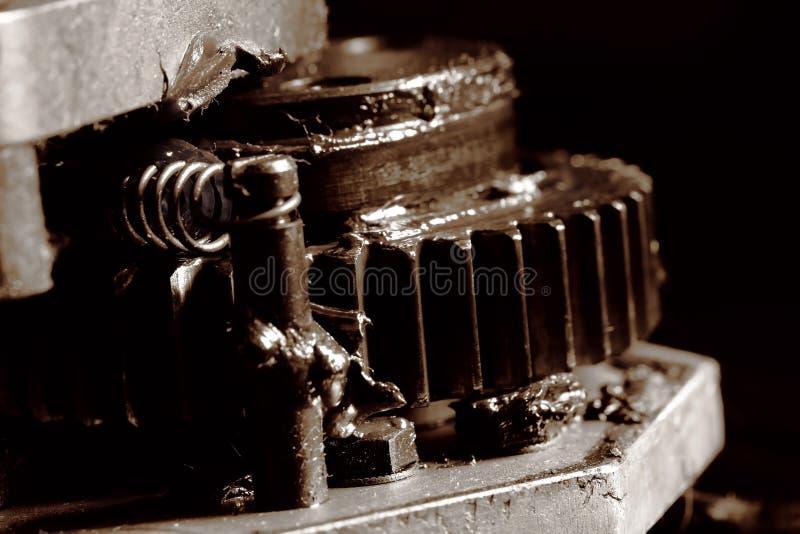 Guzek maszyna z przekładnia przekazem fotografia stock