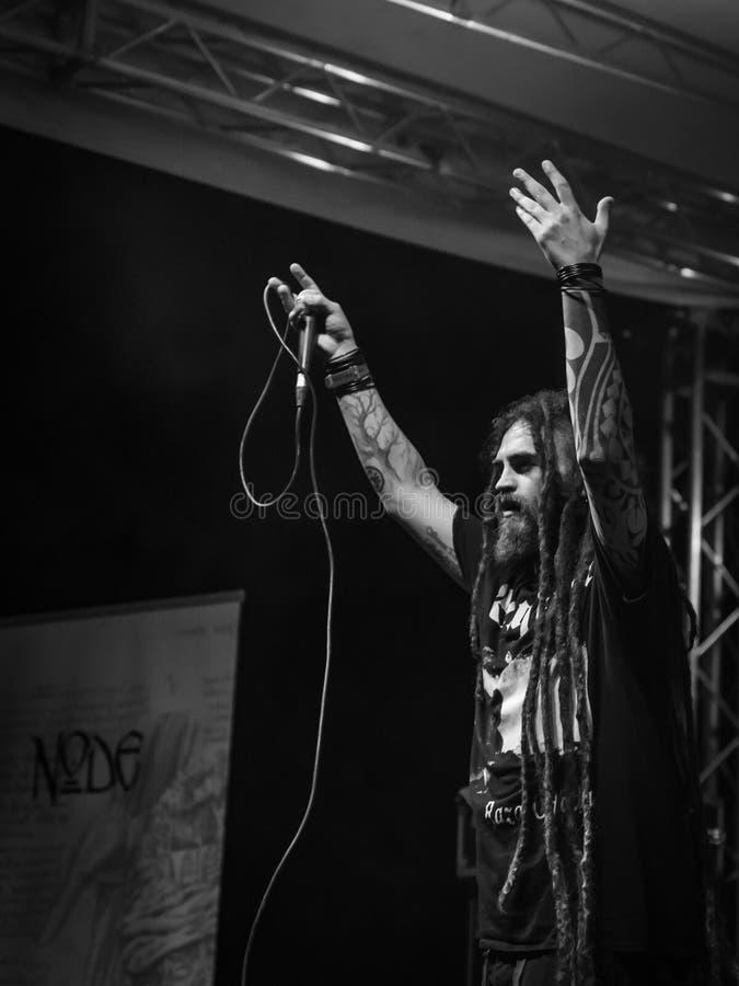 Guzek przy Pollo metalu Fest BG 26-08-2018 obrazy royalty free