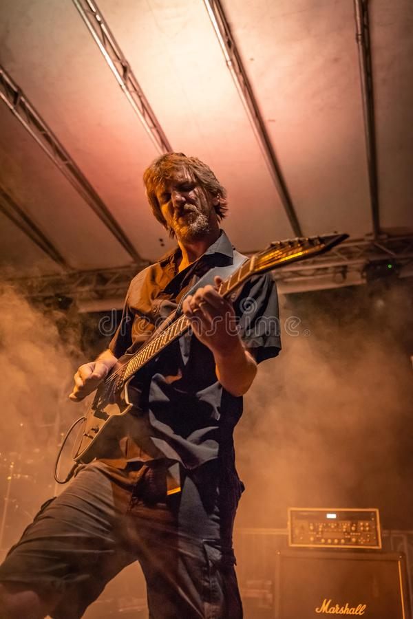 Guzek przy Pollo metalu Fest BG 26-08-2018 obraz stock