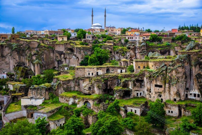 Guzelyurt镇在卡帕多细亚,土耳其 图库摄影