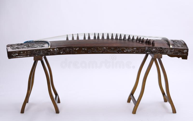 Guzheng kinesfolkmusik arkivbilder