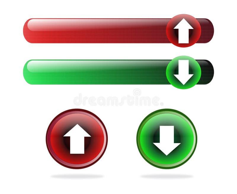 guzików ściągania upload ilustracja wektor