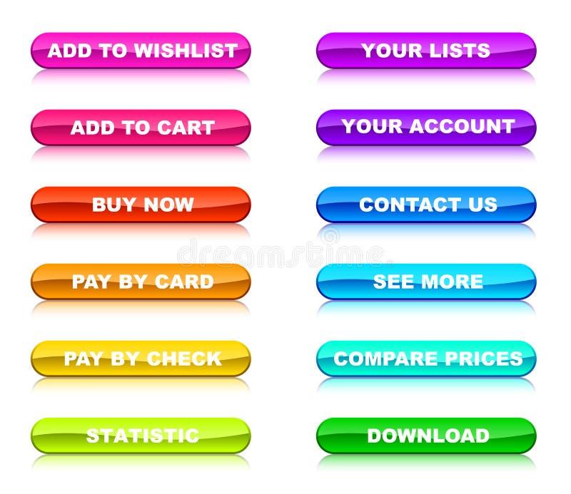 guzików internetów sklep ilustracji