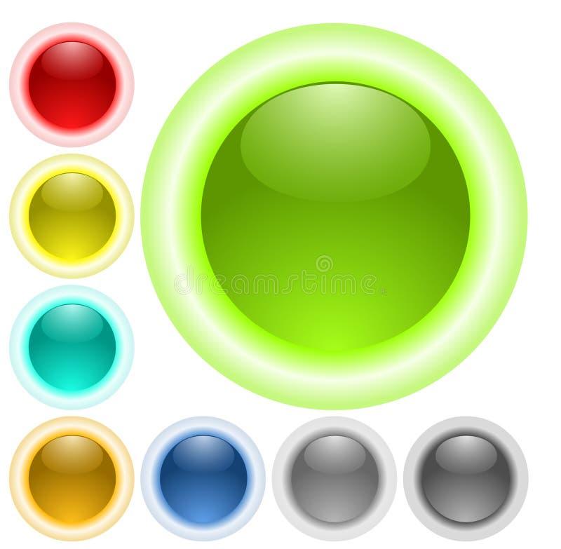guzików szkła łuny neon ilustracja wektor