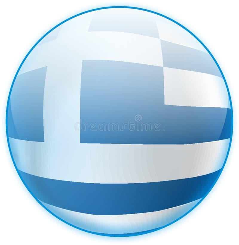 guzik błękitny flaga Greece zdjęcie stock