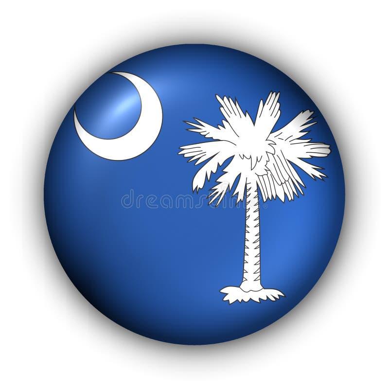 guzik bandery Carolina południowej rundy stanu usa ilustracji