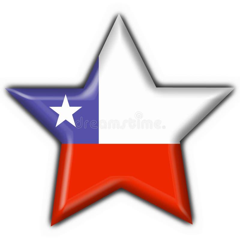 guzik chile flagi kształcie gwiazdy royalty ilustracja