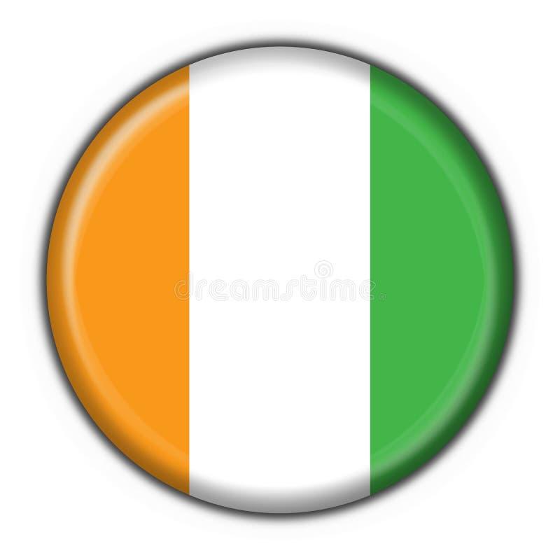 guzik cote d flagi ivoire okrągły kształt royalty ilustracja
