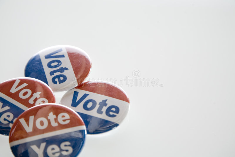 guzik głosowanie fotografia stock