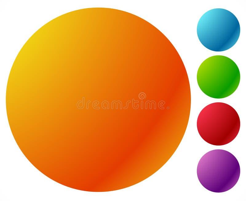 Guzik kształtuje, tła w 5 jaskrawym glansowanym kolorze royalty ilustracja