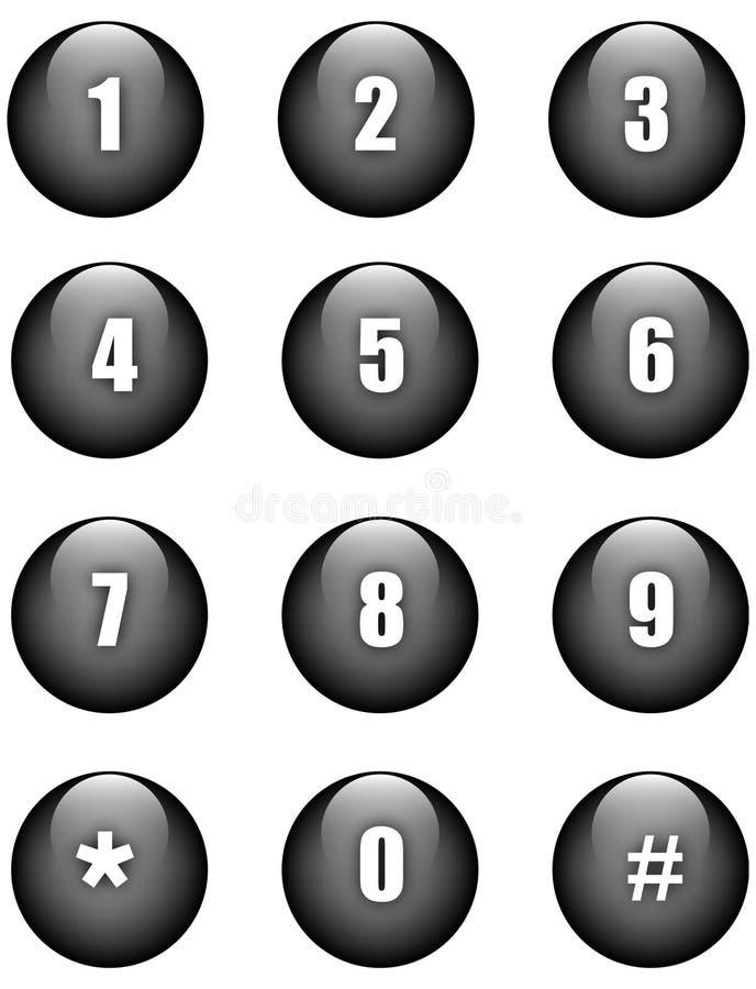 guzik liczby ilustracja wektor