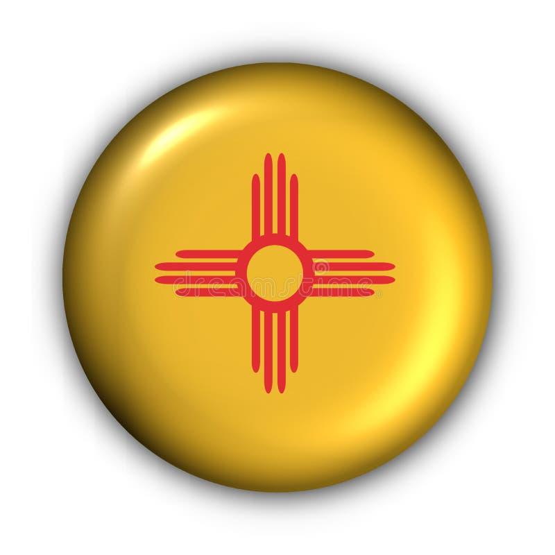 guzik nowego Meksyku bandery rundę stanu usa ilustracja wektor