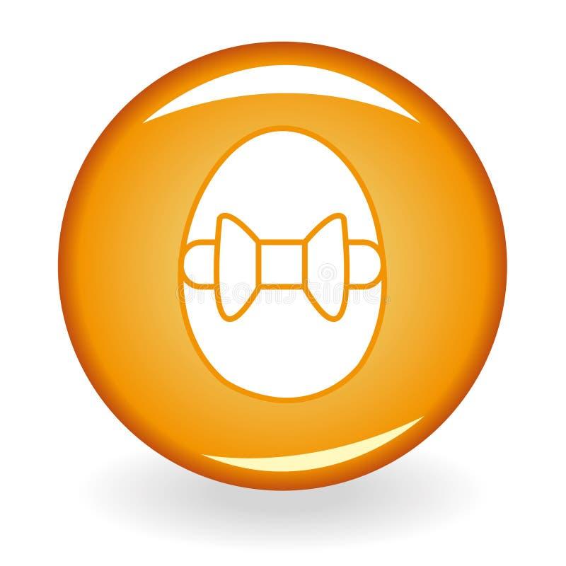 guzik pomarańcze jajeczna glansowana royalty ilustracja