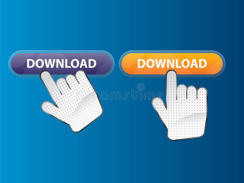 guzik ręka ilustracja wektor