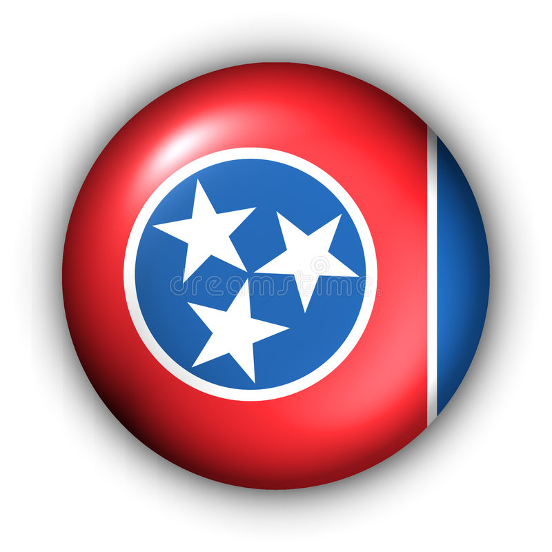 guzik rundę stan Tennessee bandery usa ilustracji