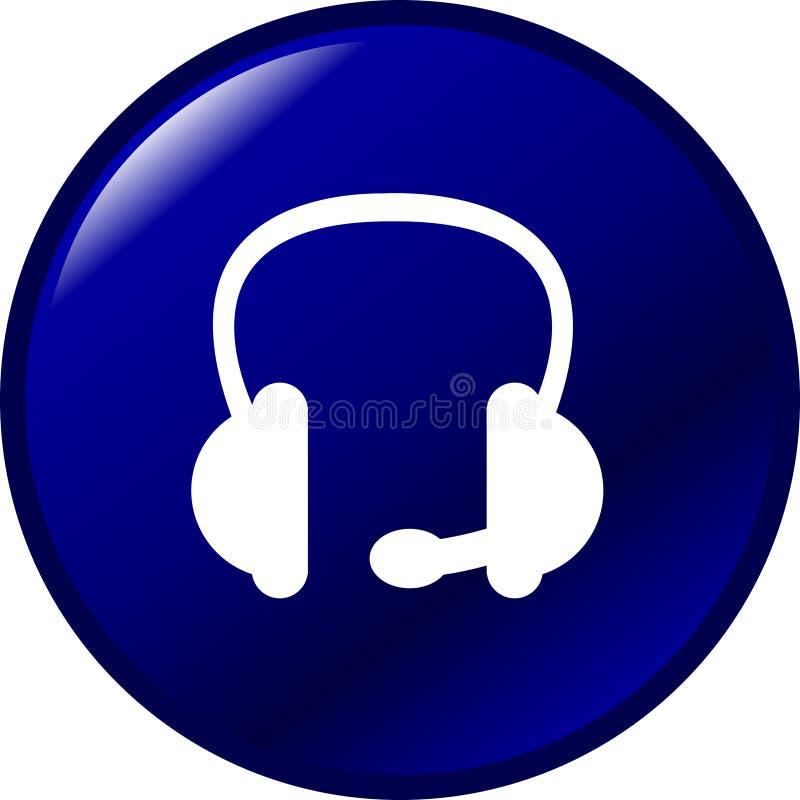 guzik słuchawki ilustracji
