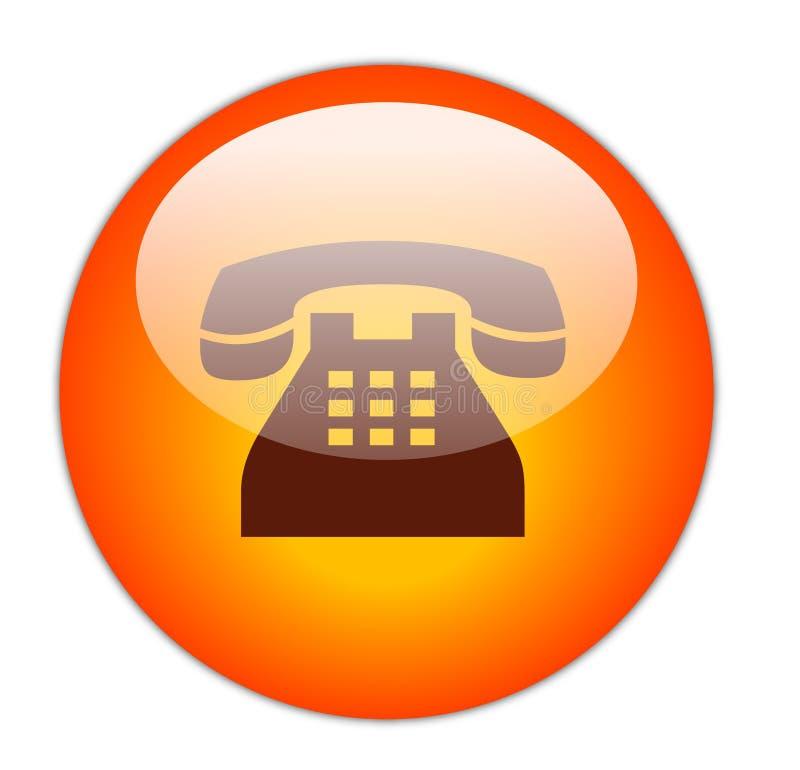 guzik telefon royalty ilustracja