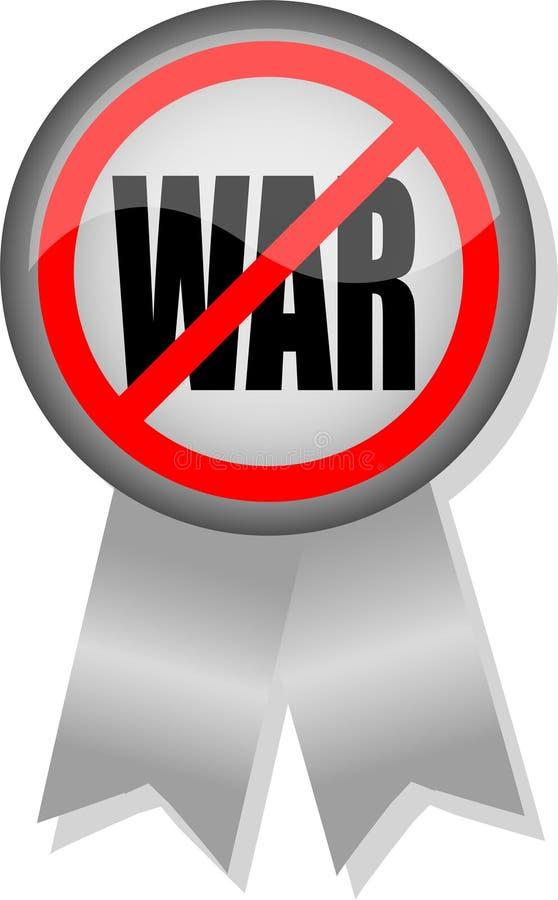 guzik wstęgi anty - wojna ilustracja wektor