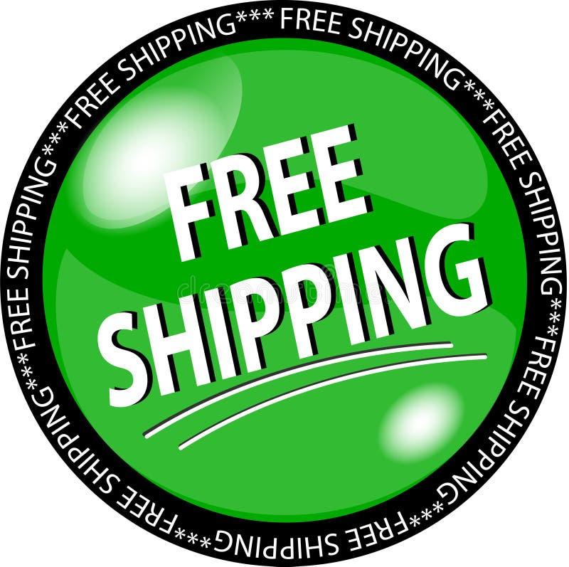 guzik wysyłka bezpłatna zielona ilustracja wektor