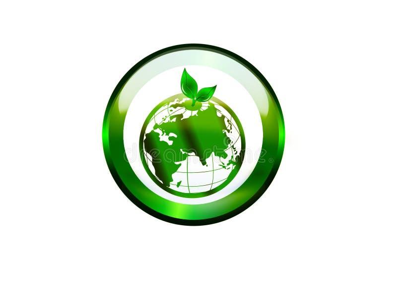 guzik zieleń ilustracja wektor