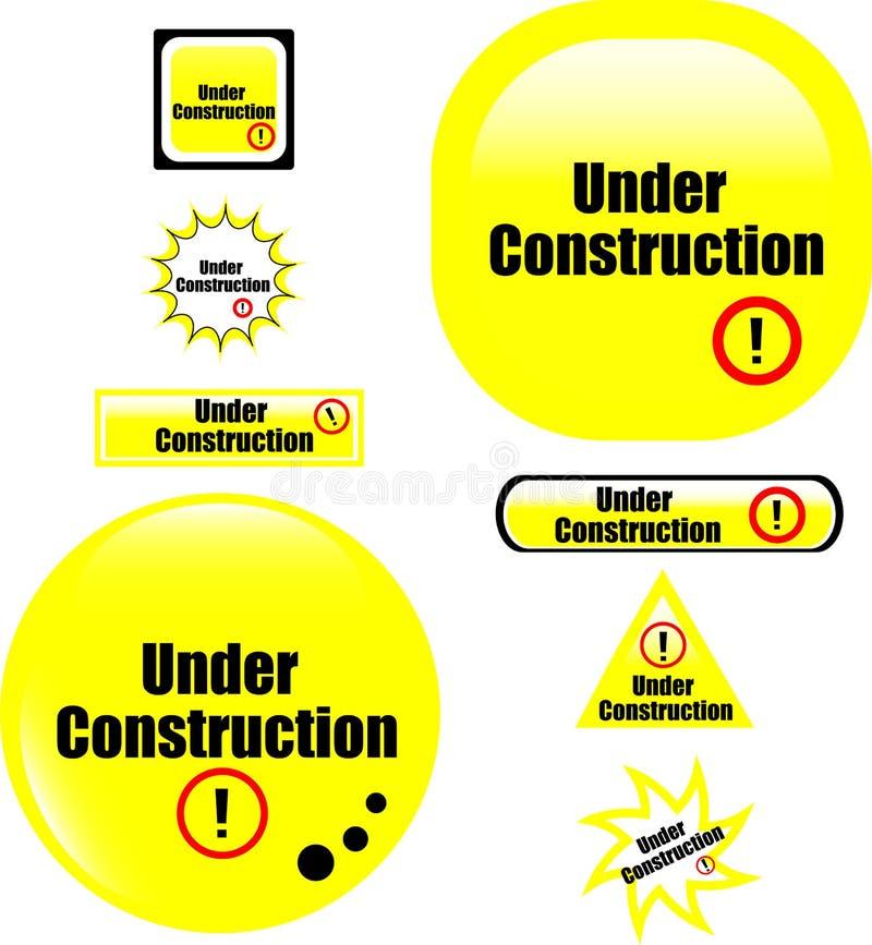 guzika budowy ikona pod stroną internetową royalty ilustracja