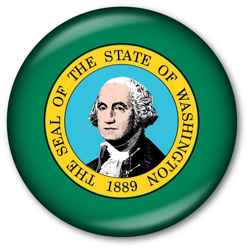 guzika chorągwiany stan Washington ilustracji