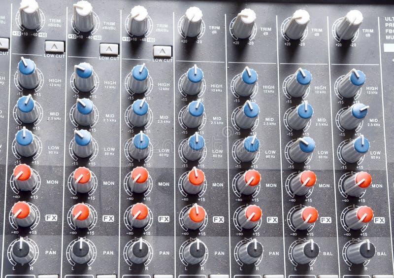 Guzika dźwięka kontrola obraz stock
