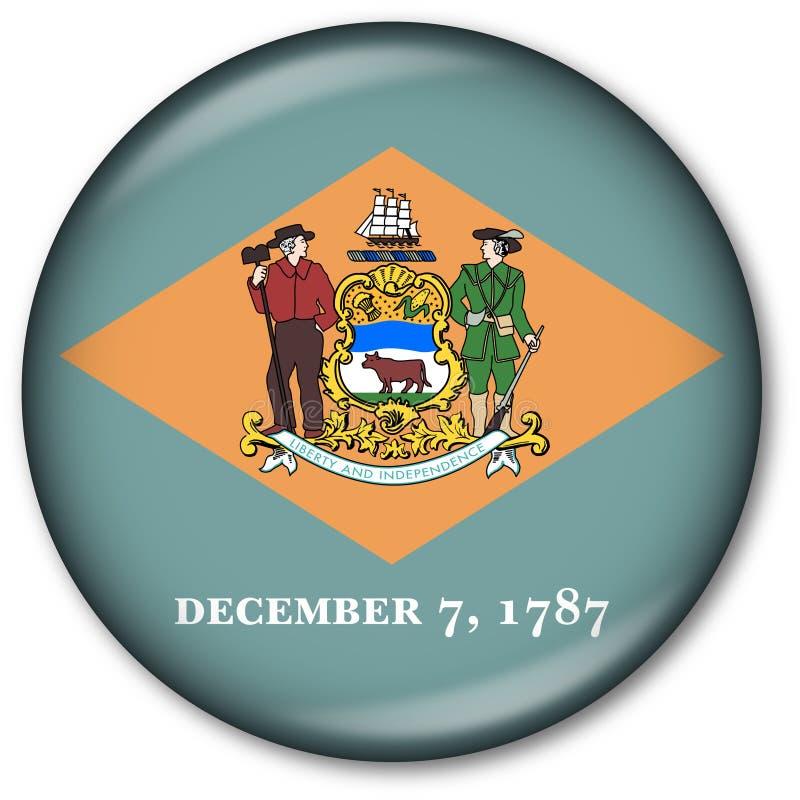 guzika Delaware chorągwiany stan zdjęcia royalty free
