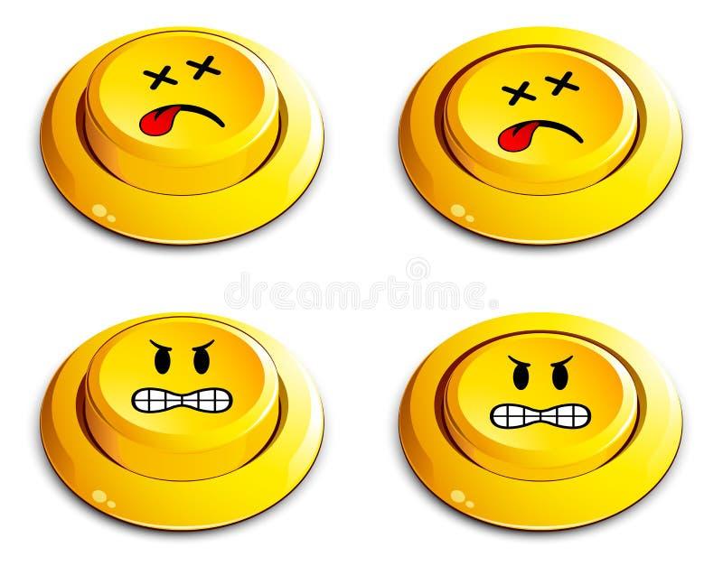 guzika emoticon pchnięcie ilustracji