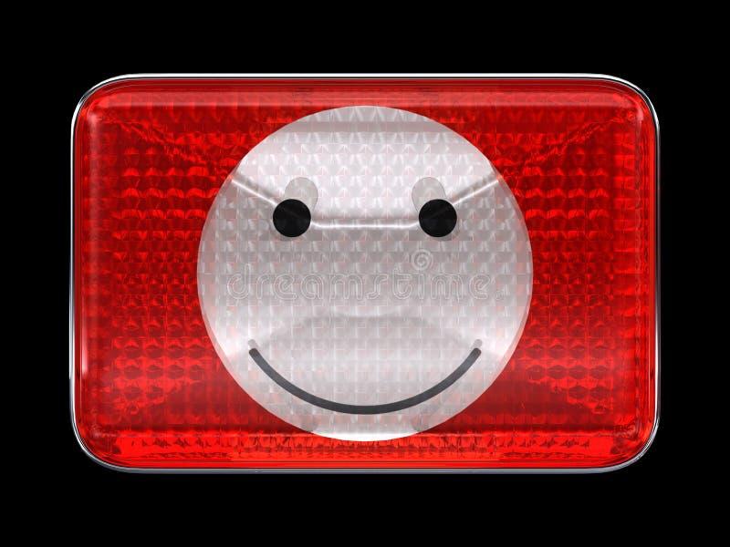 guzika emoticon reflektoru czerwieni smiley royalty ilustracja