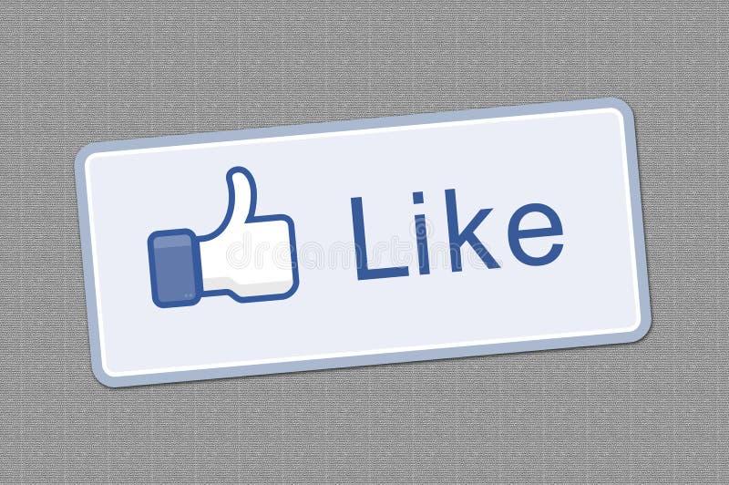 guzika facebook lubi ilustracji