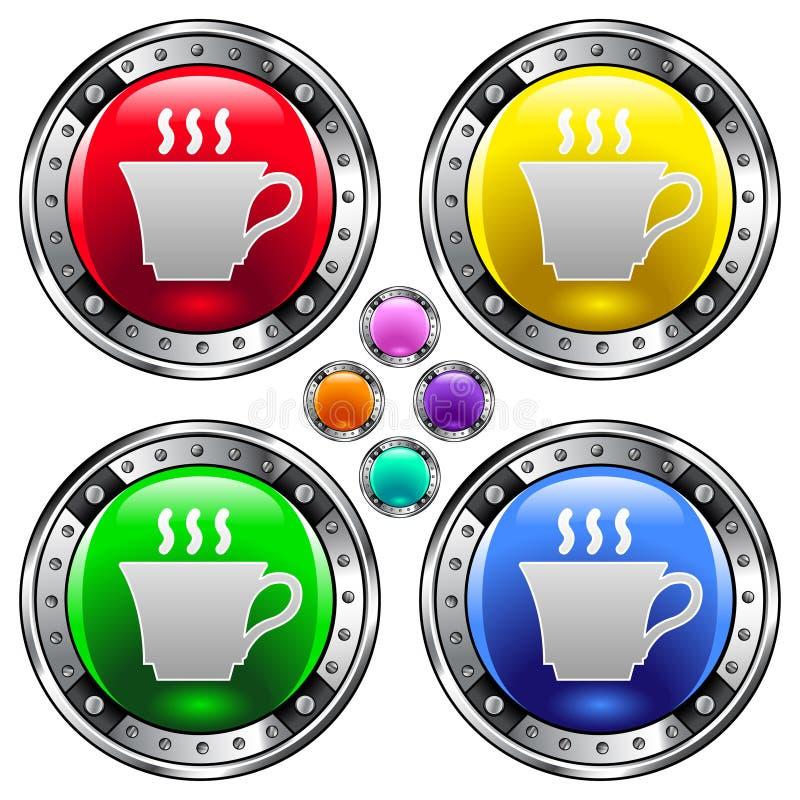 guzika filiżanki ikony wektor herbaty wektor ilustracji