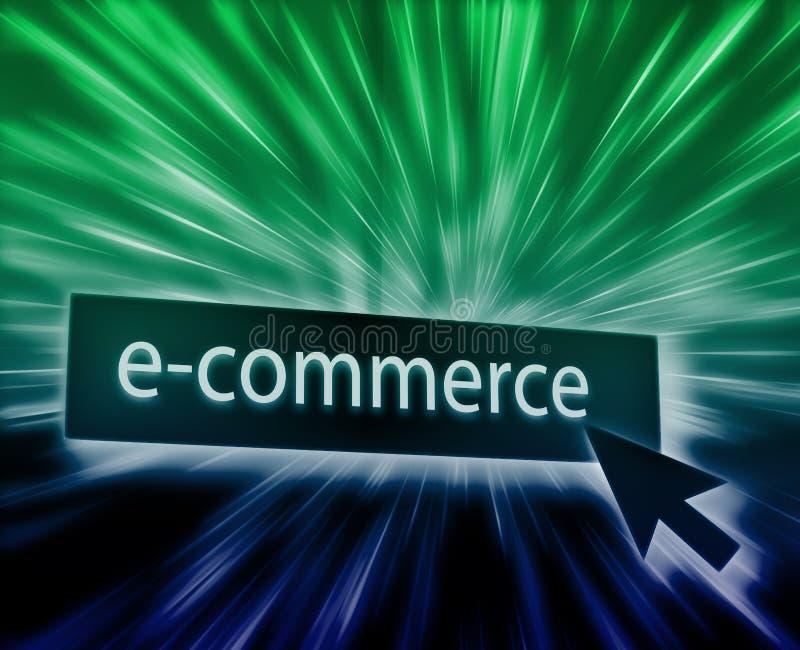 guzika handel elektroniczny ilustracja wektor