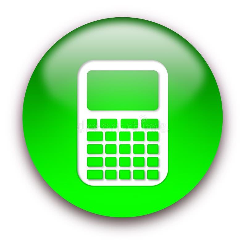 guzika kalkulatora ikona royalty ilustracja