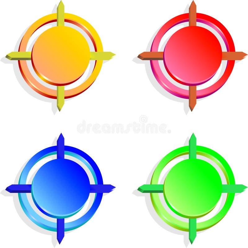 guzika kolor obrazy stock