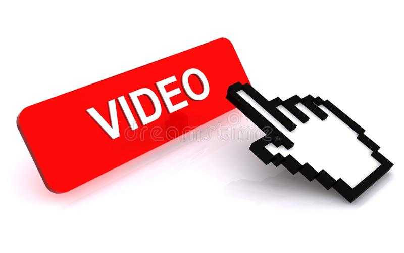 guzika kursoru ręki wideo ilustracji