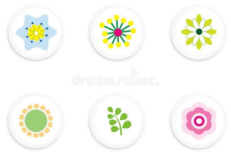 guzika kwiat ilustracji