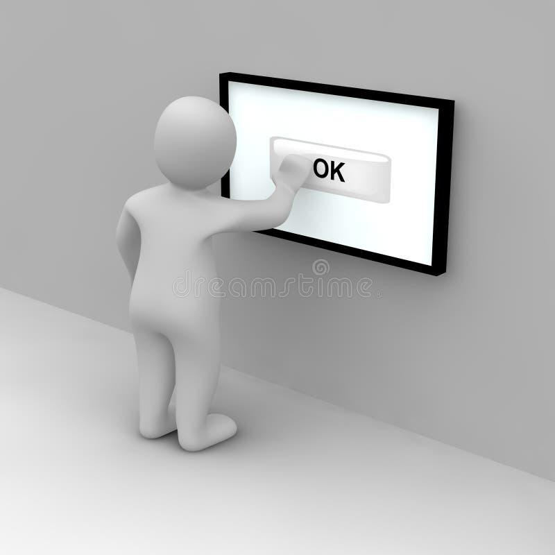 Download Guzika ok klepnięcie ilustracji. Ilustracja złożonej z ekran - 13328652
