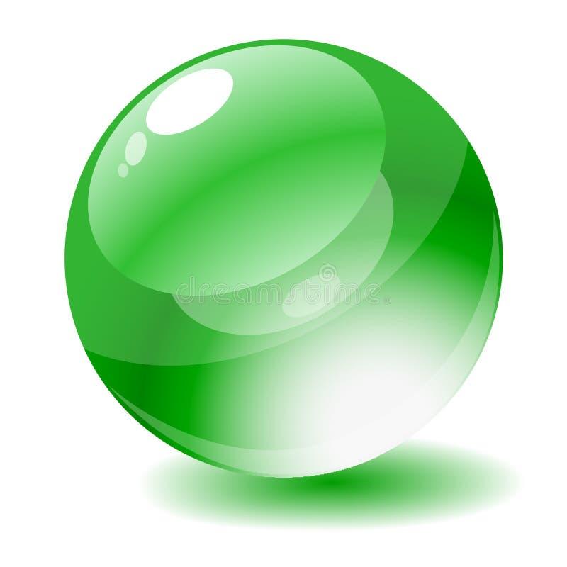 guzika okręgu glansowana zielona ilustraci wektoru sieć