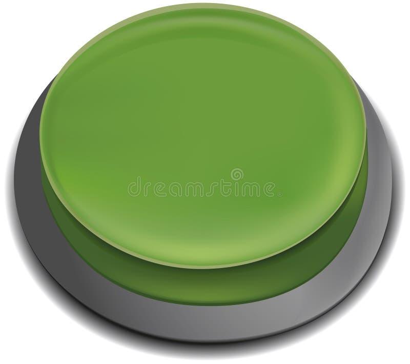 guzika pchnięcie zielony ilustracyjny ilustracji