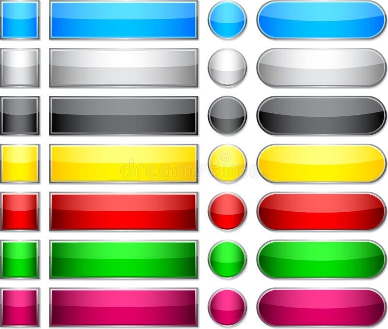 guzika pusty kolor ilustracja wektor