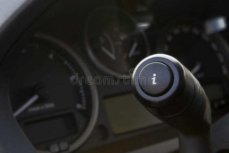 guzika samochód info fotografia stock
